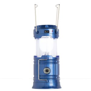 solar rechargeable lantern in blue